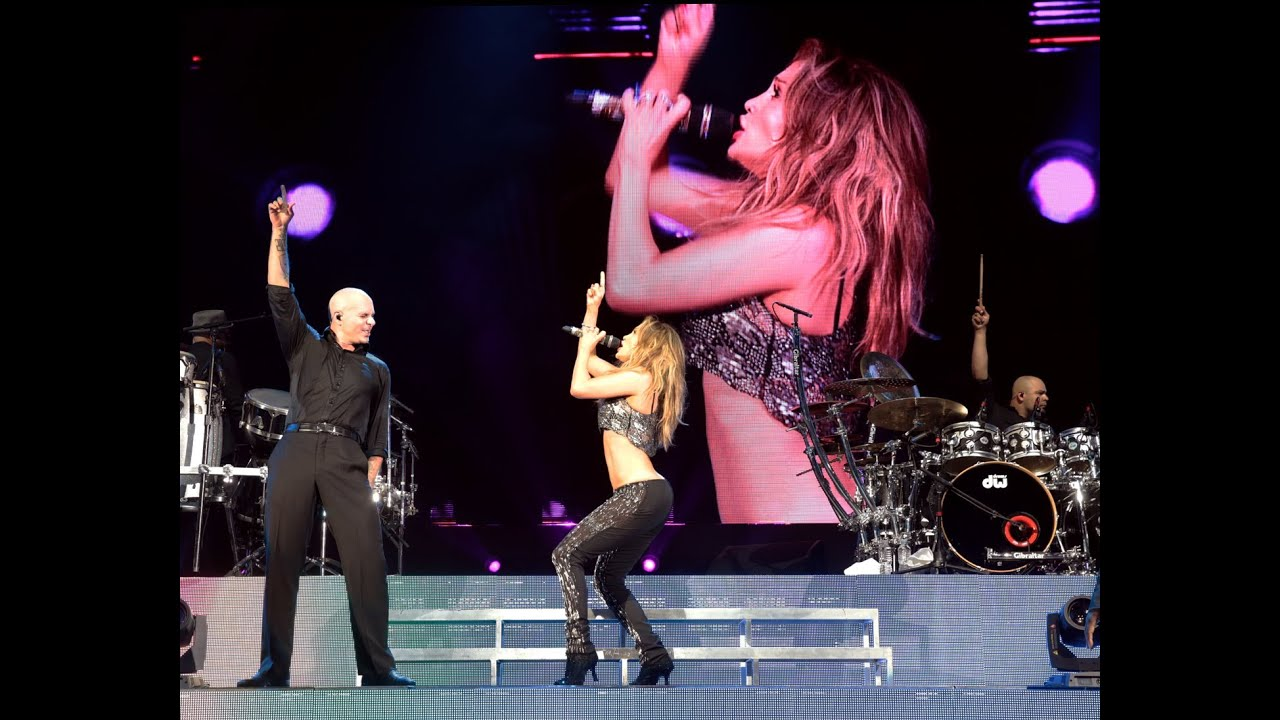 Jennifer Lopez Pitbull Live It Up Live At The