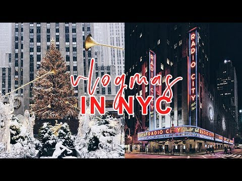NYC Christmas Sight Seeing!  | VLOGMAS DAY 6  | Antonnette