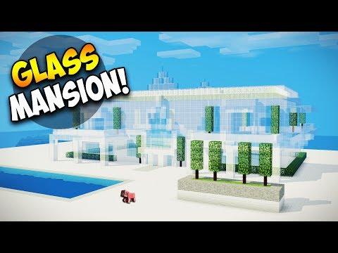 Minecraft: How To Build A Large Mansion Tutorial - Glass House