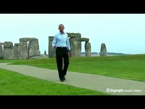 Barack Obama makes impromptu visit to Stonehenge