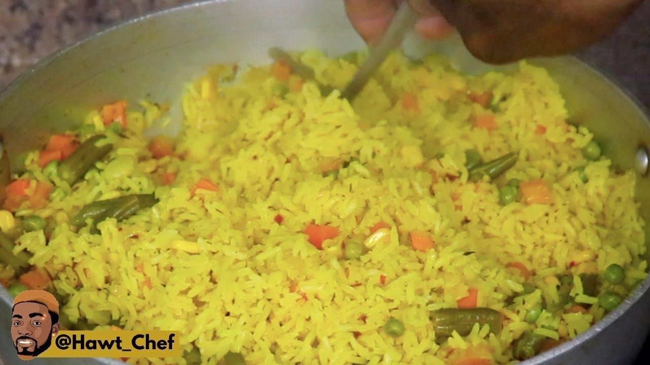 jamaican style curry seasoned rice  pilaf rice method