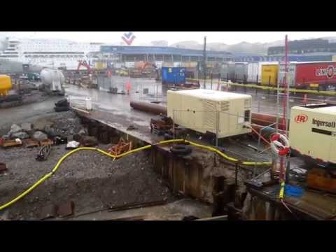 Drilling and foundation works in Stockholm harbour
