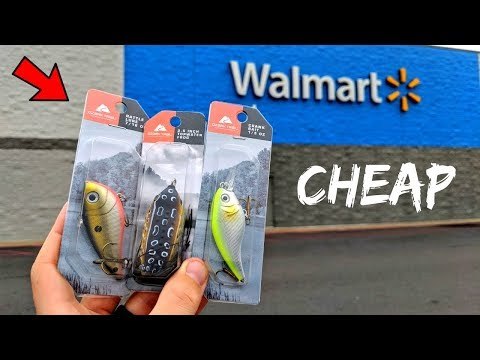 Wal-Mart Brand ONLY Fishing CHALLENGE (Surprising!)