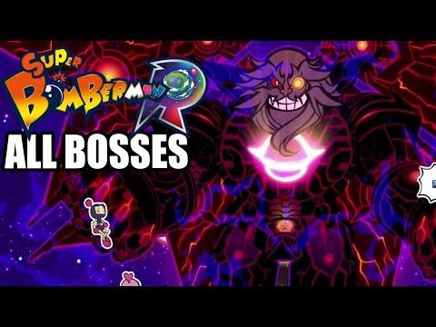 Super Bomberman R - All Bosses