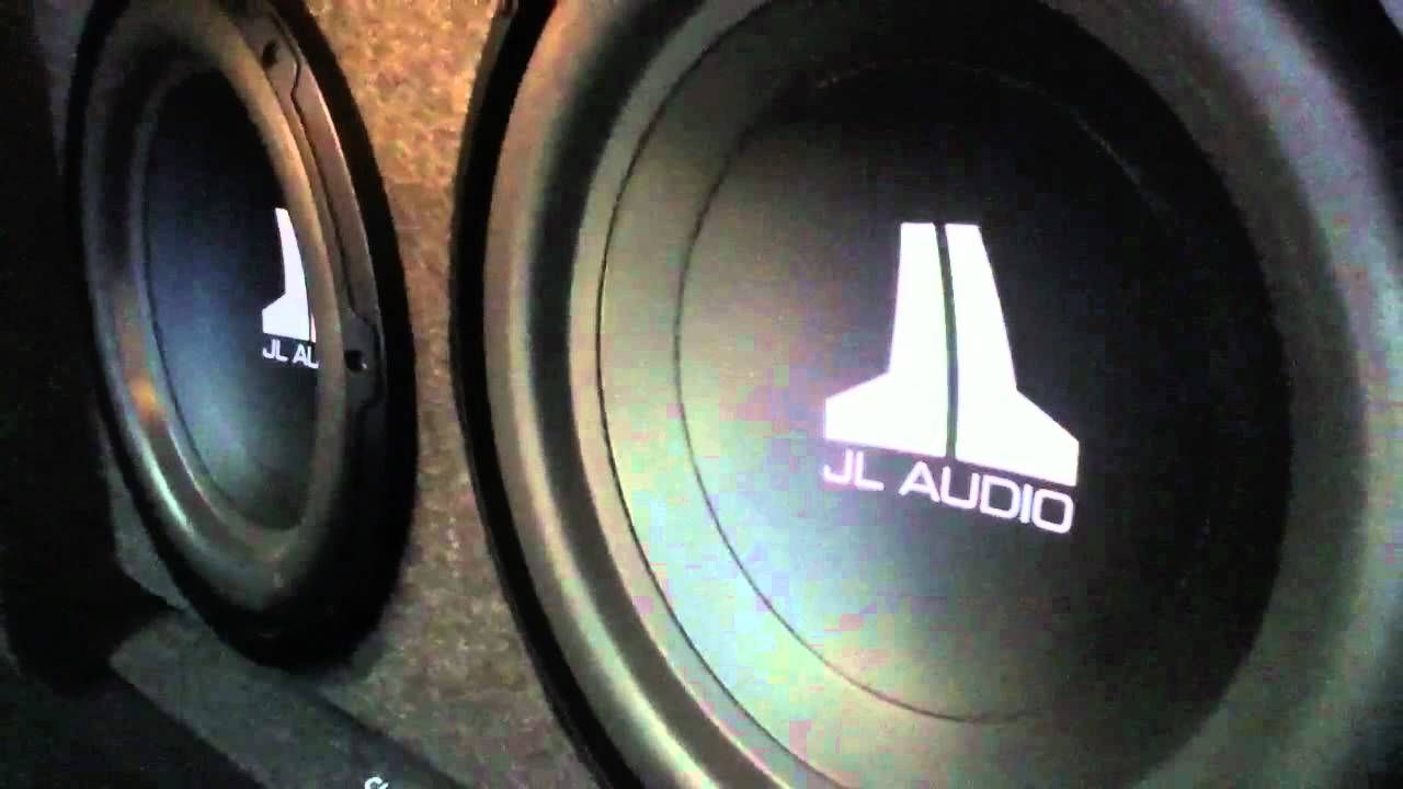 JL Audio W0 Subwoofers In Slot - Ported B Wedge Box - YouTube on