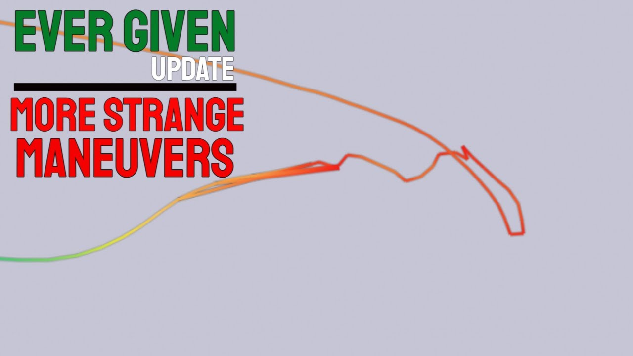EVER GIVEN CONTAINERSHIP UPDATE - more strange maneuvers