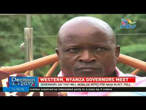 Western, Nyanza governors say they will mobilize votes for NASA