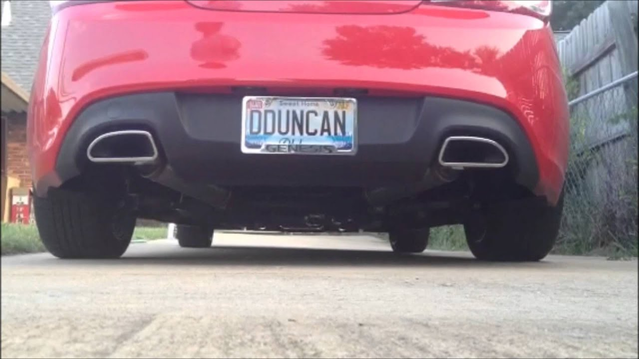 2013 Genesis Coupe Stock Vs Custom Exhaust Youtube