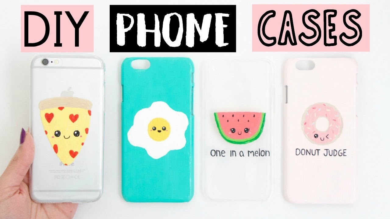 DIY PHONE CASES - Four Easy & Cute Ideas! - YouTube