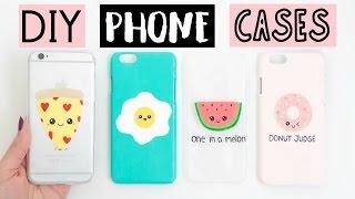 DIY PHONE CASES - Four Easy & Cute Ideas!