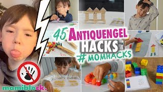 45 Anti Quengel Hacks 👿🔜👼🏻💕 | MOM HACKS | Busy Bags | mamiblock