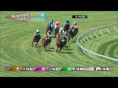 video thumbnail for MONMOUTH PARK 09-07-20 RACE 4
