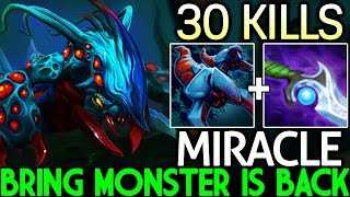 MIRACLE [Weaver] Pro Bring Monster is Back Crazy 30 Kills Top Carry 7.23 Dota 2