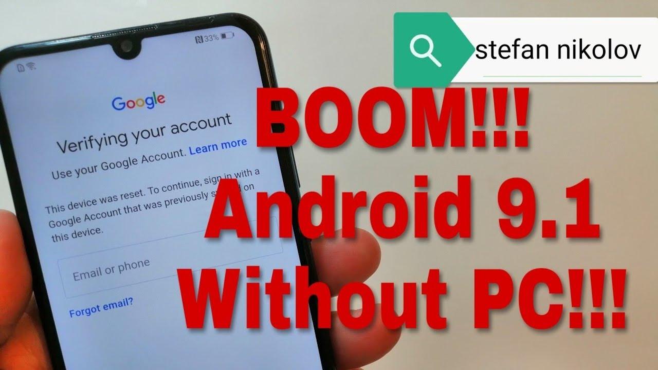 BOOM!!! Huawei P Smart 2019 /POT-LX1/  Remove Google Account,Bypass FRP