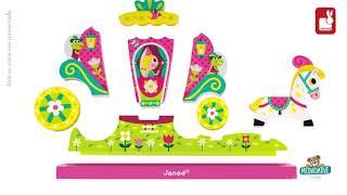 Dřevěné magnetické puzzle Princezny Vertical Janod