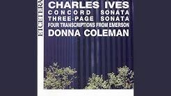 Second pianoforte sonata, concord mass ; The alcotts