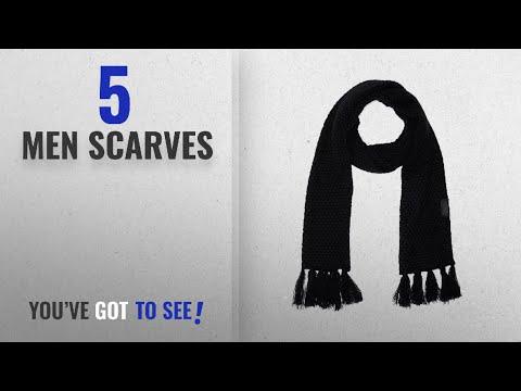 Diesel Scarves [ Winter 2018 ]: Diesel Men's K-Vishal Knit Scarf TU Black
