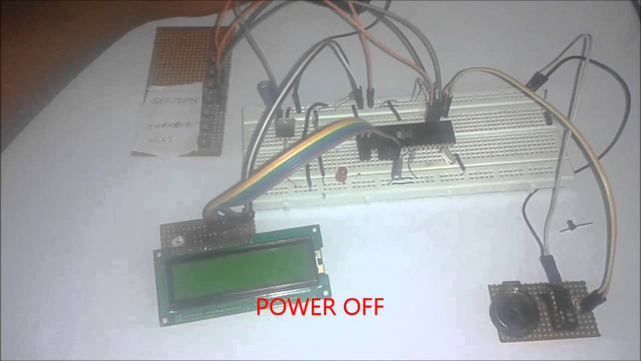 Real Time Clock With Alarm Using 8051