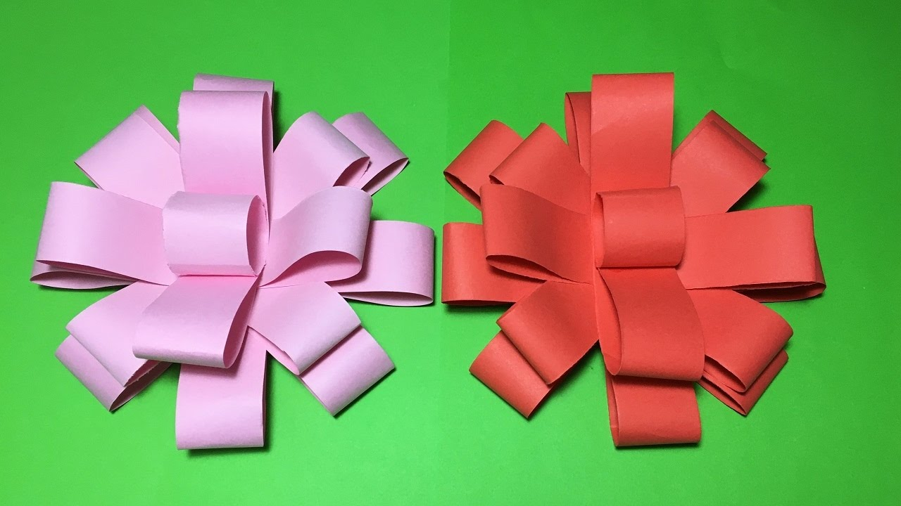 How To Make An Easy Beautiful Origami Paper Bow Tutorial Step By