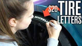 DIY Tire Lettering for ONLY $20!?
