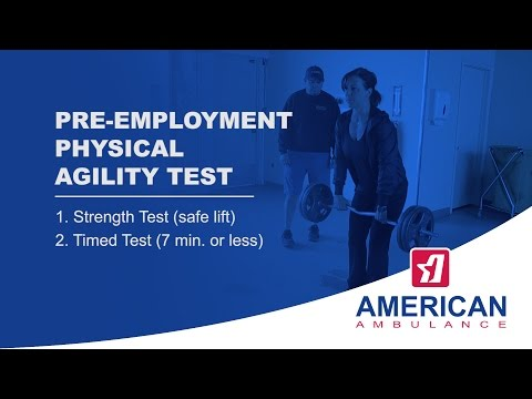 Pre-employment Physical Agility Test