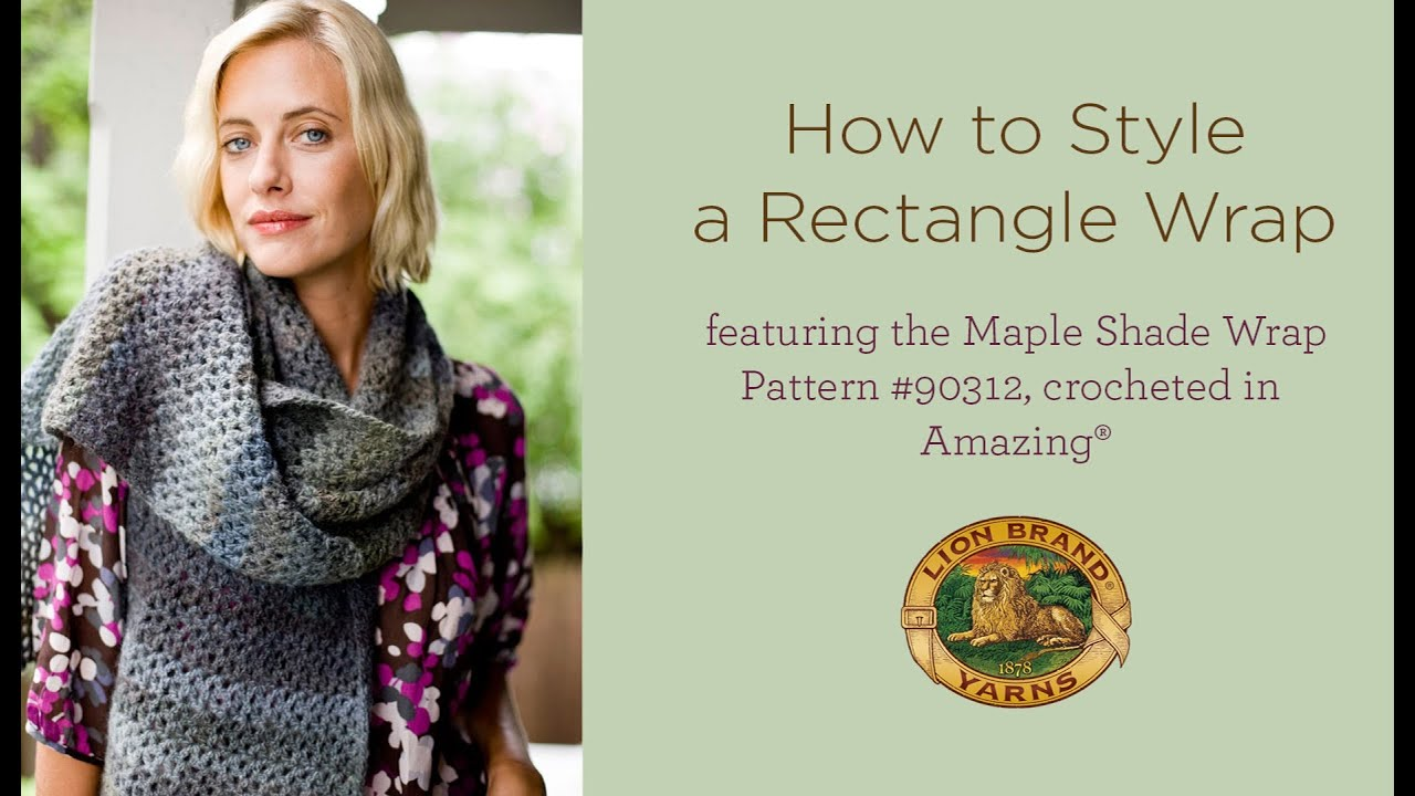 How to Style a Rectangle Wrap - YouTube