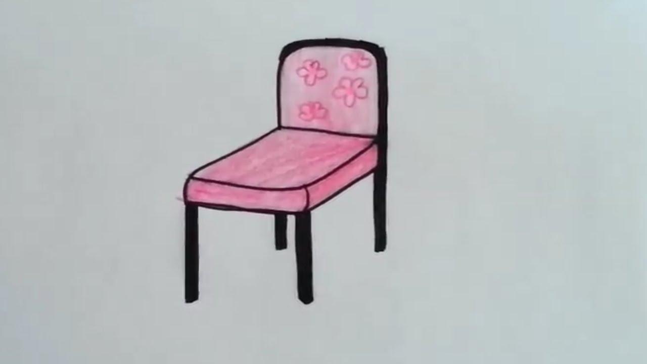 Basit Sandalye 231 Izimi How To Draw A Chair Youtube