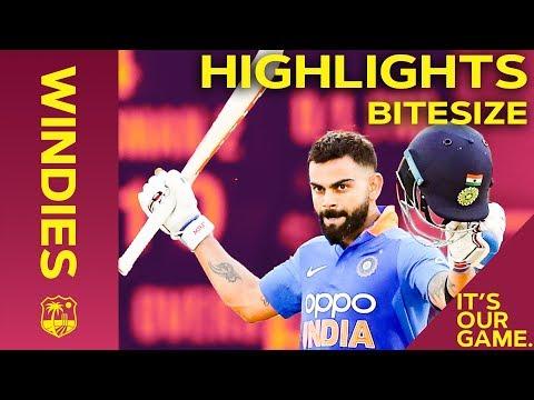 Windies vs India | 3rd ODI 2019 | Bitesize Highlights
