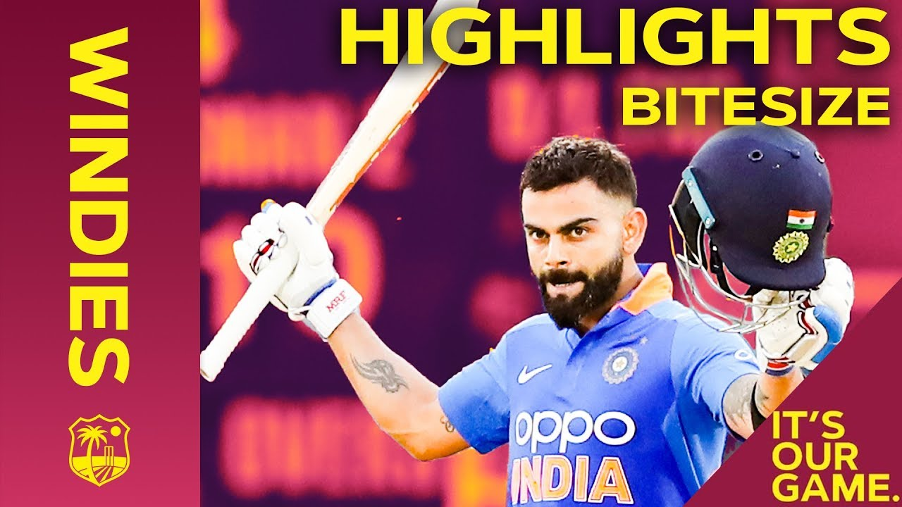 Windies vs India | 3rd ODI 2019 | Bitesize Highlights