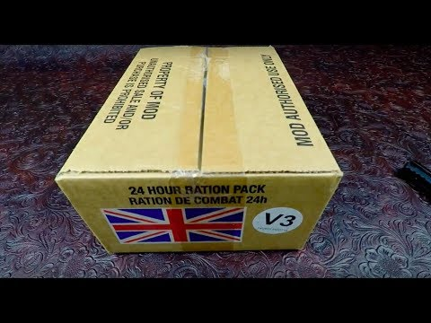 MRE Review 2016 British Military Food 24H Ration Vegetarian Menu V3