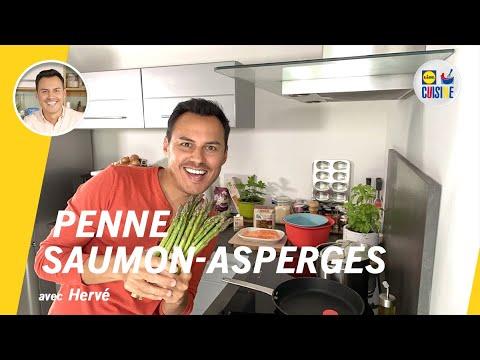 recette-penne-saumon-asperges---lidl-cuisine-en-live-avec-hervé