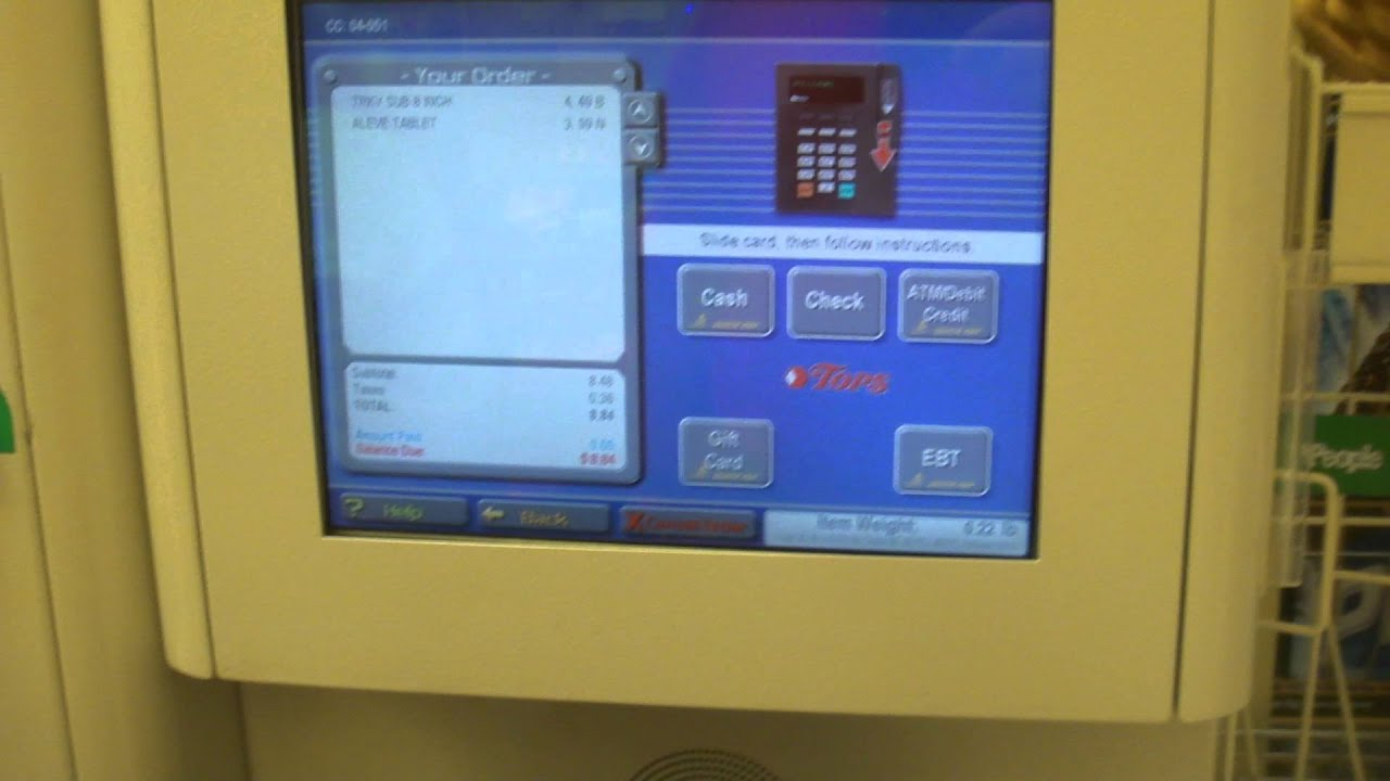 A Demo Of The Self Checkout Registers At Tops Youtube