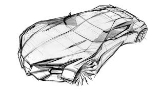 How to sketch a car(Alfa Romeo Bird eye view)