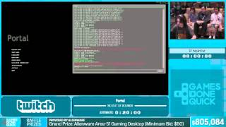 Portal By Noircat In 14:41 - Summer Games Done Quick 2015 - Part 149
