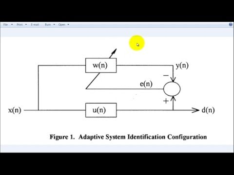 Adaptive Normalized LMS or NLMS Filter in MATLAB - YouTube