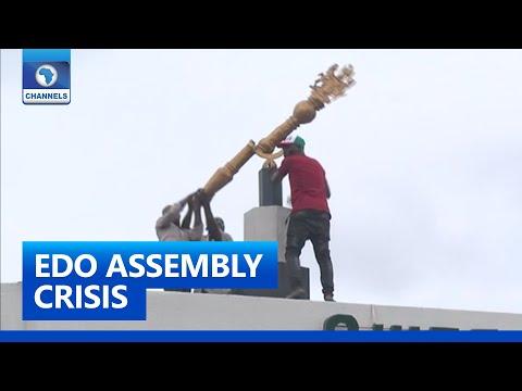 Full Report: Drama As Men Smash Mace, Destroy Property At Edo Assembly