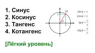 Что такое синус, косинус, тангенс и котангенс