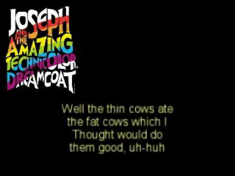 Josep And The Amazing Technicolor Dreamcoat - SONG OF THE KING (Seven Fat Cows) - Karaoke