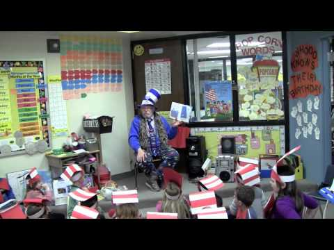 Dr Seuss at Tarkio Elementary School with Bill and Chet
