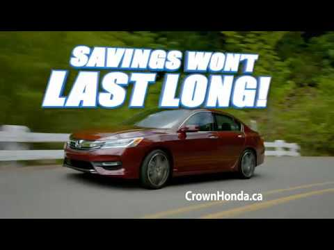 Crown Honda Mcphillips >> Crown Honda Mcphillips Civic And Cr V Sale Winnipeg Manitoba Youtube