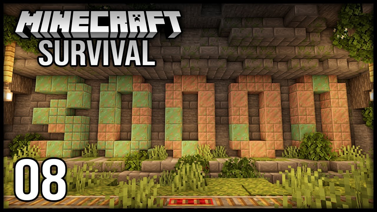 Minecraft 1.17 Survival Let's Play - Episode 8 - 30k Sub Monument & Overgrown Lush Mine!