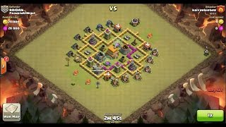 Clash of Clans TH6 vs TH6 Giant, Barbarian, Archer & Wizard Clan War 3 Star Attack