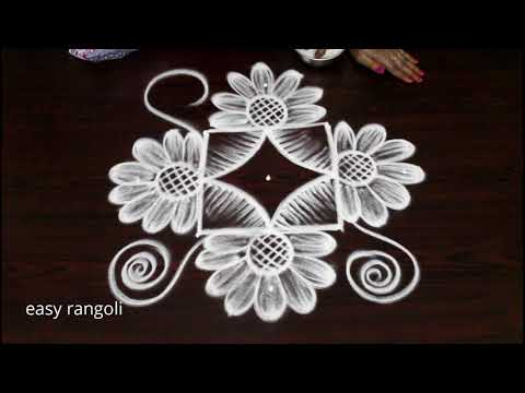 Amazing creative kolam with dots || latest Indian rangoli arts designs by Suneetha||easy muggulu