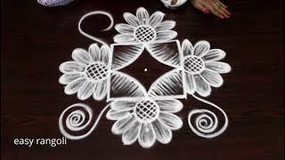 Amazing creative kolam with dots || latest Indian rangoli arts designs by Suneetha||easy muggulu