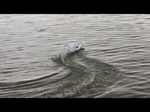 White Stealth RC Speedboat