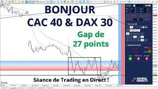#CAC40 CFD - Séance de Trading en Direct - Bonjour CAC40 & DAX30 le 10/01