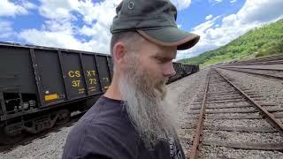 Обратный переход и туннель CSX Hagans, Вирджиния / Кентукки- (Ссылка в описании)