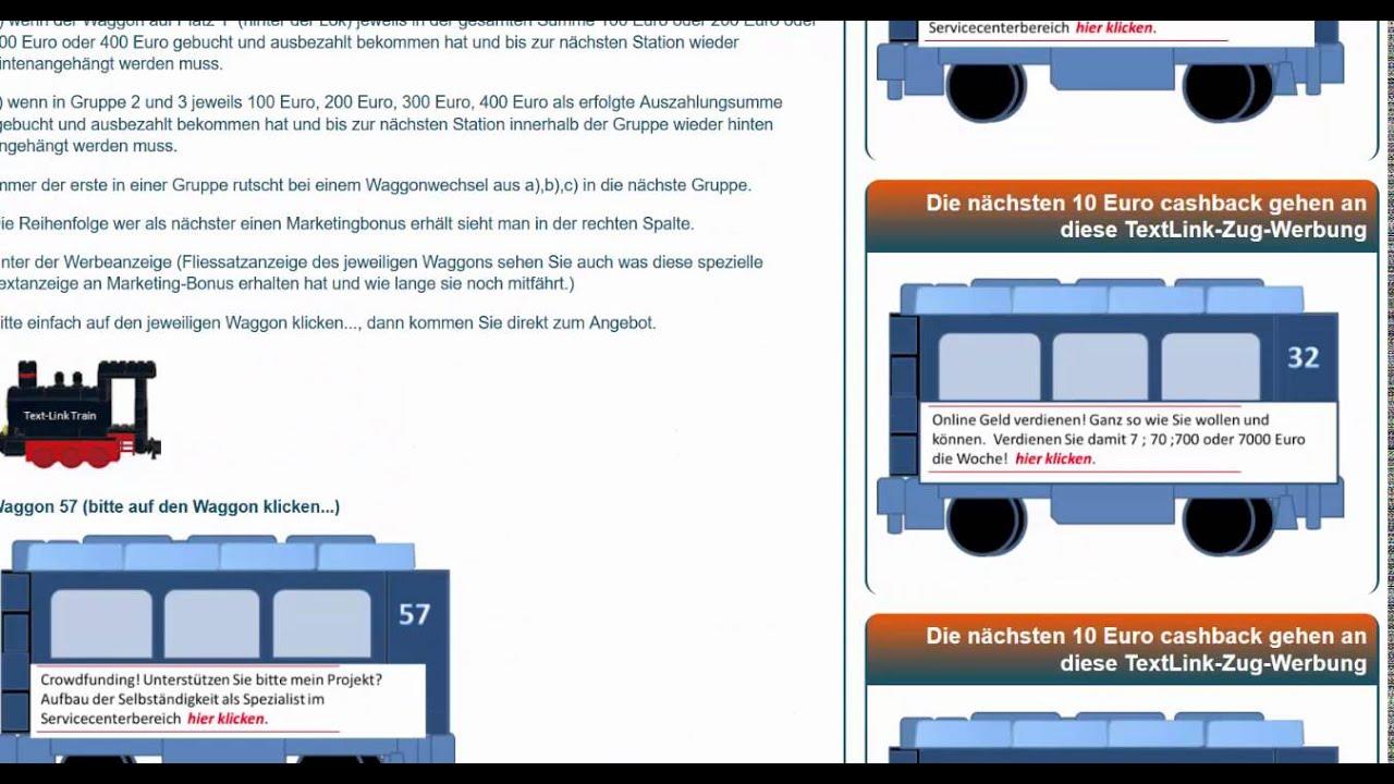 Werbung & Geld verdienen mit der Text Link Anzeige - YouTube