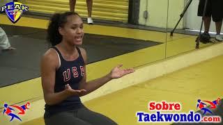 Motivational speech for young Taekwondo athletes by Paige McPherson