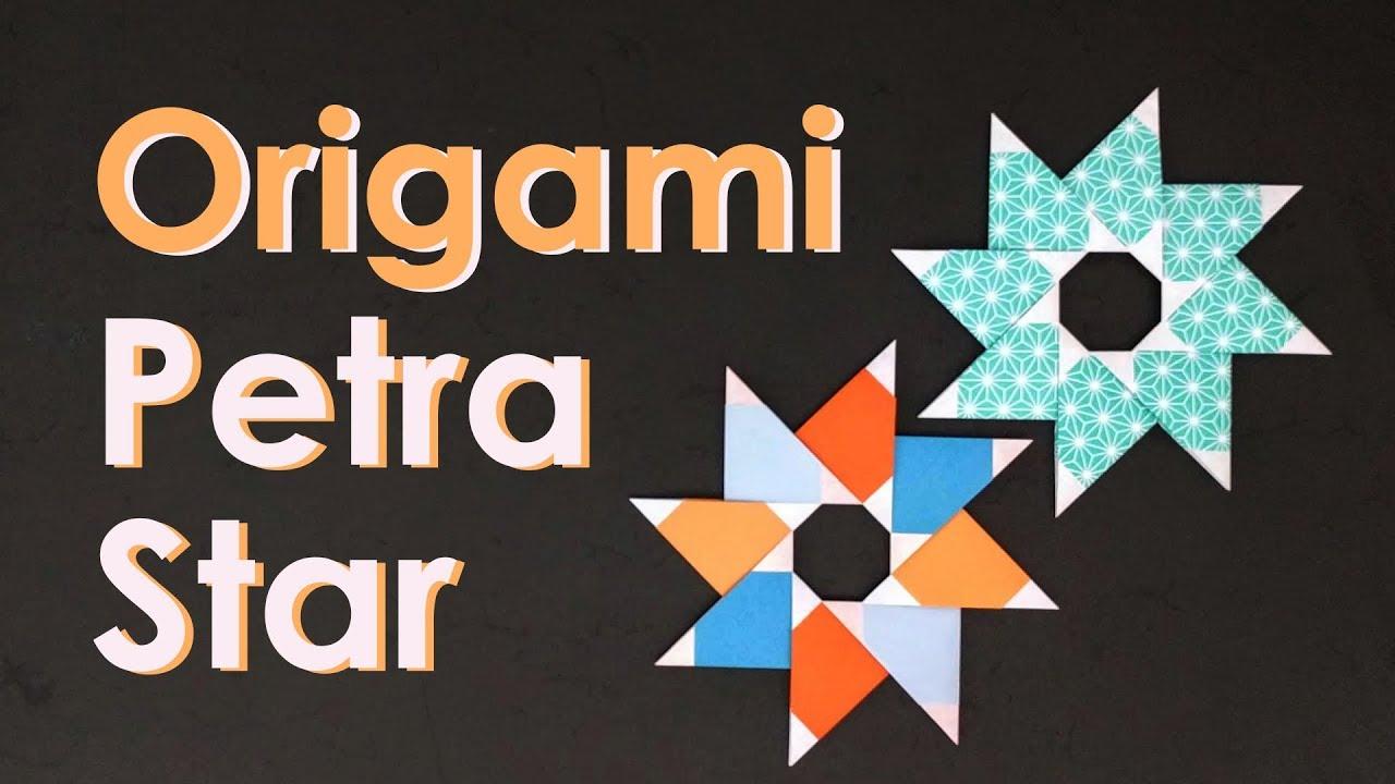 Christmas Origami Tutorial Petra Star Maria Sinayskaya Youtube Diagrams